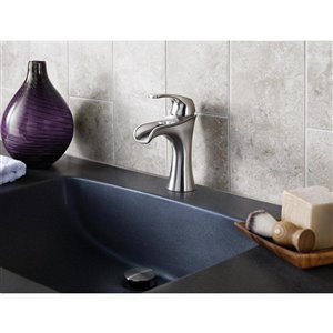 Pfister Jaida Brushed Nickel 1-Handle Single Hole 4-in Centerset WaterSense Bathroom Sink Faucet with Drain (Valve Included)