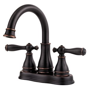 Pfister Sonterra Tuscan Bronze 2-Handle 4-in Centerset WaterSense Bathroom Sink Faucet with Drain (Valve Included)