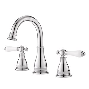 Pfister Sonterra Polished Chrome 2-Handle Widespread WaterSense Bathroom Sink Faucet with Drain (Valve Included)