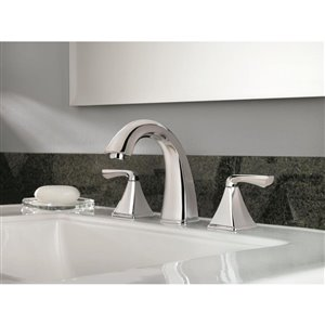 Pfister Selia Polished Chrome 2-Handle Widespread WaterSense Bathroom Sink Faucet with Drain (Valve Included)