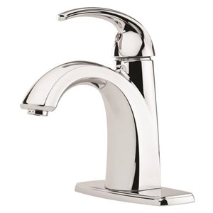 Pfister Selia Polished Chrome 1-Handle Single Hole 4-in Centerset WaterSense Bathroom Sink Faucet with Drain (Valve Included)