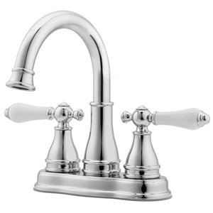 Pfister Sonterra Polished Chrome 2-Handle 4-in Centerset WaterSense Bathroom Sink Faucet with Drain (Valve Included)