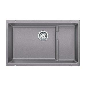 BLANCO Precis 28.75-in x 19-in Metallic Gray 2 Composite Undermount (Customizable)-Hole Residential Kitchen Sink