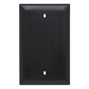Legrand Trademaster 1-Gang Blank Wall Plate (Black)