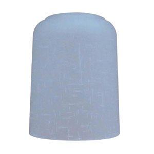 Litex 5.5-in H x 4.3-in W White Linen Textured glass Cylinder Vanity light shade