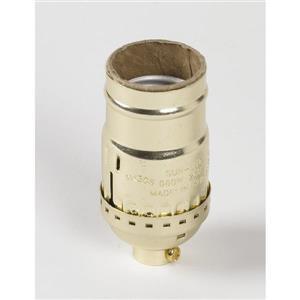 SERVALITE 75-Watt Gold Hard-Wired Light Socket