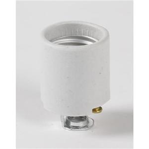 SERVALITE 60-Watt Grey Hard-Wired Light Socket