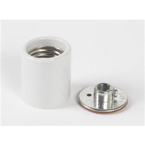 SERVALITE 250-Watt White Ceiling Socket