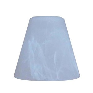 Litex 4.25-in H x 4.84-in W Alabaster Alabaster glass Cone Vanity light shade