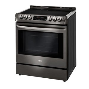 LG 30-in 6.3 cu ft Slide In Electric Range with Self-cleaning Convection Oven (Black Stainless Steel)