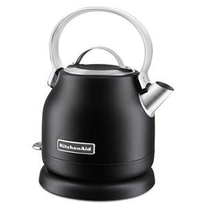 KitchenAid Matte Black 1.2L Small Space Electric Tea Kettle