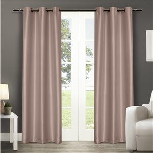 Design Decor 84-in Blush Polyester Grommet Blackout Thermal Lined Single Curtain Panel