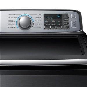 Samsung 5.8-Cu Ft High-Efficiency Top-Load Washer (Platinum) ENERGY STAR