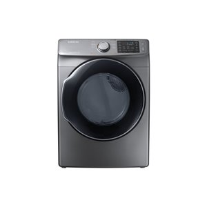 Samsung 7.5 cu ft. Stackable Front-Load Electric Steam Dryer (Platinum Gray) ENERGY STAR
