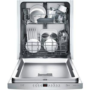 Bosch 44.0-Decibel Built-in Dishwasher (Stainless Steel) Common: 24 -in; Actual: 23.5625-in) ENERGY STAR