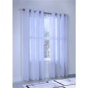 Legacy Olivia 84-in Silver Single Curtain Panel