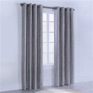 Legacy Geologic Grommet Window Curtain 52 x 84, Colour Grey