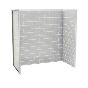 maax utile 60-in x 30-in metro soft grey bathtub wall