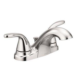 Moen Adler Chrome 2-Handle 4-in Centerset WaterSense Bathroom Sink Faucet with Drain