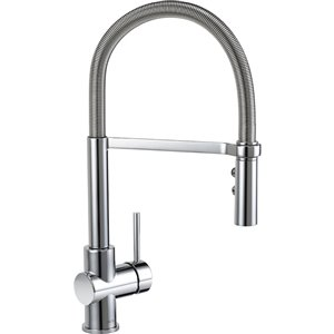 DELTA Struct Chrome 1-Handle Faucet Type Sink/Counter Mount Traditional Kitchen Faucet