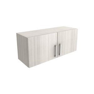 Cutler White Chocolate 36-in x 12-in 2-Door Horizontal Wall Cabinet