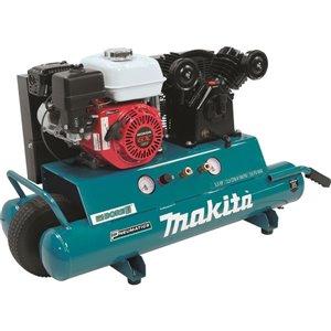 Makita 10-Gallon Single Stage Portable Gas Horizontal Air Compressor (1-Tool)