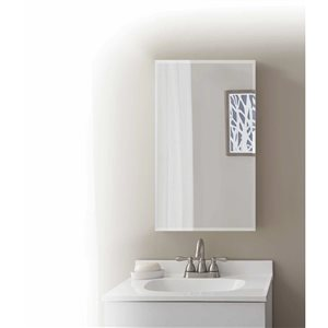 Style Selections 15.375-in x 26-in Rectangle Surface/Recessed Medicine Cabinet with Mirror