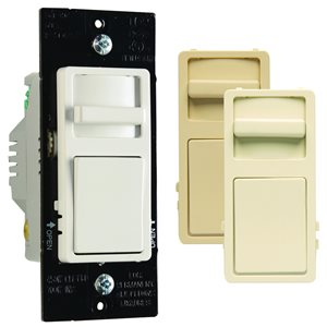 Legrand 450-Watt Single Pole 3-Way White/Light Almond/Ivory Indoor Slide Dimmer