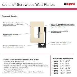 Legrand radiant 2-Gang Decorator Rocker Wall Plate (Nickel)