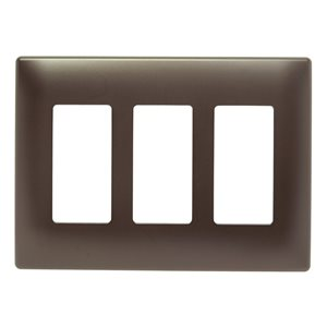 Legrand radiant 3-Gang Decorator Rocker Wall Plate (Dark Bronze)