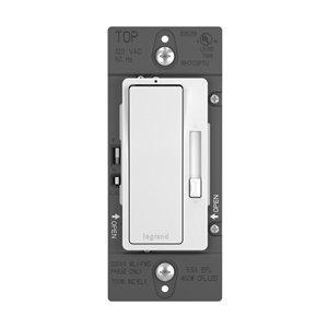 Legrand Radiant 450-Watt Single Pole 3-Way White Indoor Rocker Dimmer