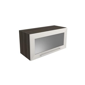 Cutler Aria 30-in x 15-in Front Glass Wall Cabinet