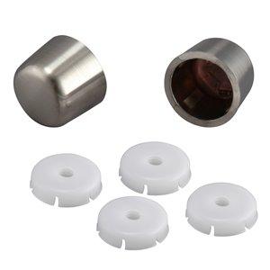 Universal Brushed Nickel Toilet Bolt Caps