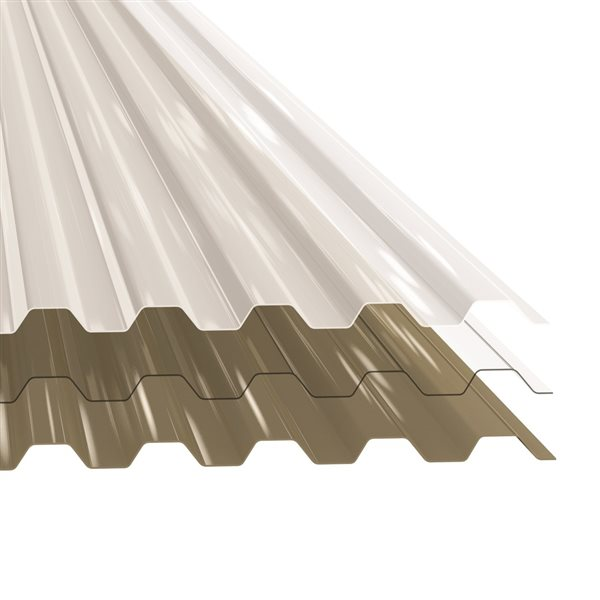 Polycarb 26 In X 12 Ft Translucent Corrugated Polycarbonate Roof Panel Lowe S Canada