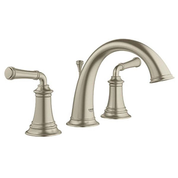 Surprising Grohe Gloucester Brushed Nickel Widespread 2 Handle Bathroom Faucet Interior Design Ideas Gresisoteloinfo