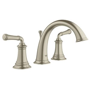 Grohe Gloucester Brushed Nickel 2 Handle Widespread Watersense Bathroom Sink Faucet With Drain Lowe S Canada