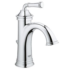 GROHE Gloucester Chrome 1-Handle Single Hole 4-in Centerset WaterSense Bathroom Sink Faucet with Drain