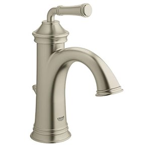 Grohe Gloucester Brushed Nickel 1 Handle Single Hole 4 In Centerset Watersense Bathroom Sink Faucet With Drain Lowe S Canada