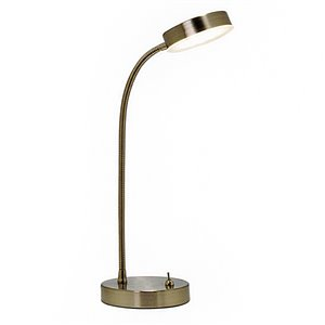 Style Selections Stainless Steel LED Desk Lamp