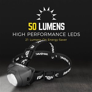 Rayovac 50-Lumen LED Headlamp Battery Flashlight (Battery Included)