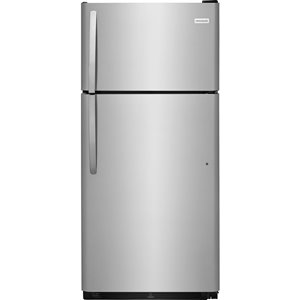 Frigidaire 30-in 18-cu ft Top-Freezer Refrigerator (Stainless Steel)