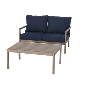 allen + roth Highgate Loveseat and Coffee Table Conversation Set