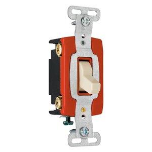 Legrand 15/20-Amp 4-Way Ivory Toggle Light Switch