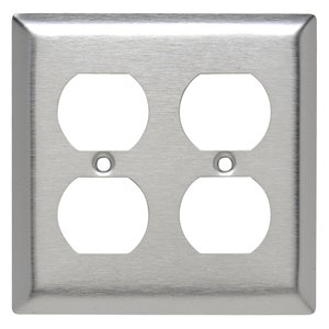 Legrand 2-Gang Duplex Receptacle Wall Plate (Stainless Steel)