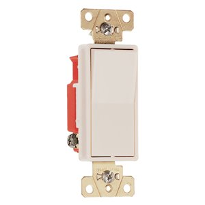 Legrand 15/20-Amp Single Pole Light Almond Rocker Light Switch