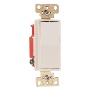 Legrand 15/20-Amp Single Pole 3-Way Light Almond Rocker Light Switch