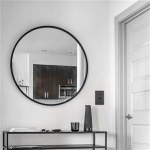 Legrand Radiant 120/125-Volt Black Decorator Wall Tamper Resistant Outlet/Switch