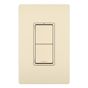 Legrand Radiante 120/125-Volt Light Almond Decorator Wall Tamper Resistant Outlet/Switch