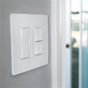 Legrand Radiant 120/125-Volt White Indoor Decorator Wall Tamper Resistant Outlet/Switch
