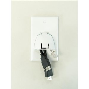 Legrand 1-Gang Cable Access/Recessed Wall Plate (White)